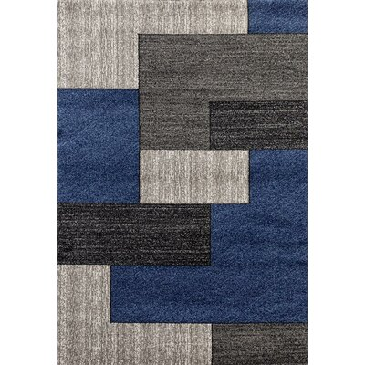 One-of-a-Kind Valladares Hand Woven Blue Area Rug Size: Rectangle 52 x 72