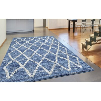 Dunmurry Blue Area Rug Rug Size: Rectangle 52 x 72