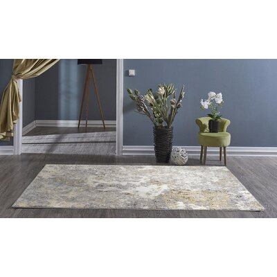 Chappell Abstract Ivory/Gray Area Rug Rug Size: Rectangle 52 x 72
