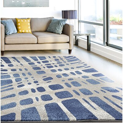 Chardae Blue/Beige Area Rug Rug Size: Rectangle 710 x 106