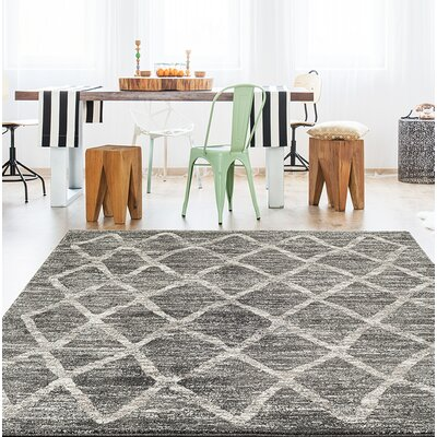 Dunmurry Gray Area Rug Rug Size: Rectangle 52 x 72