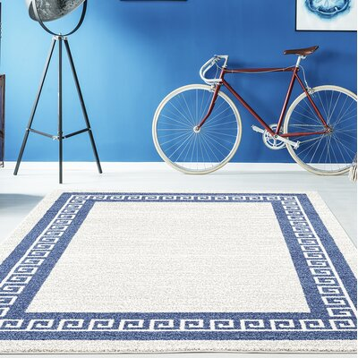 Gries Blue/Gray Area Rug Rug Size: Rectangle 710 x 106