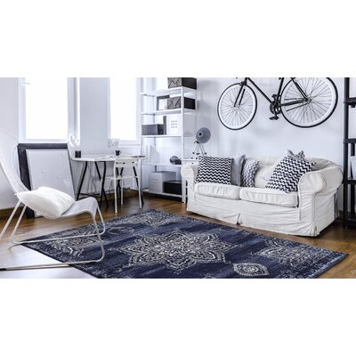 Desmond Navy Area Rug Rug Size: Rectangle 5'2