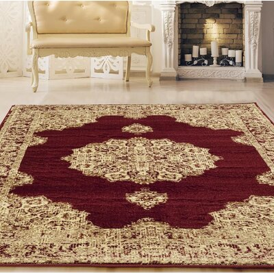 Desmond Burgundy Area Rug Rug Size: Rectangle 710 x 106