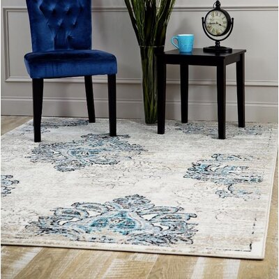Desmond Cream Area Rug Rug Size: Rectangle 52 x 72