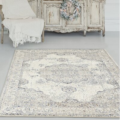 Desmond Ivory Area Rug Rug Size: Rectangle 52 x 72