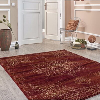 Desmond Burgundy Area Rug Rug Size: Rectangle 7'10