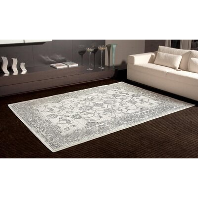 Desmond Distressed Silver Area Rug Rug Size: Rectangle 71 x 106