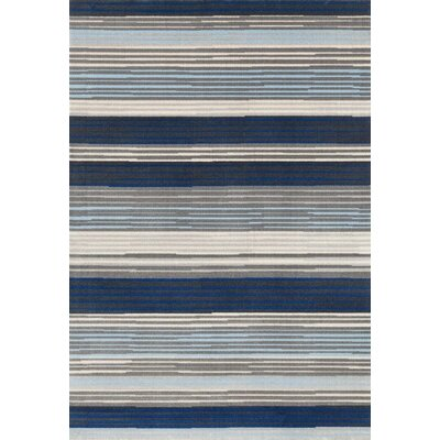 Barraclough Modern Blue/Gray Area Rug Rug Size: Rectangle 52 x 72