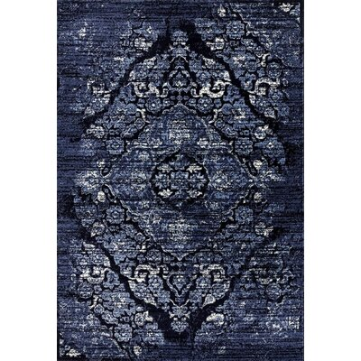 Dusek Distressed Navy Area Rug Rug Size: Rectangle 71 x 106