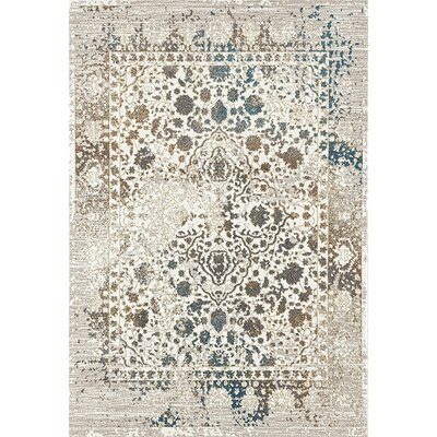 Durso Distressed Cream Area Rug Rug Size: Rectangle 52 x 72