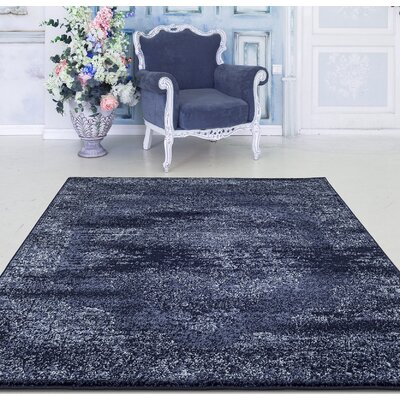 Durst Oriental Navy Area Rug Rug Size: Rectangle 71 x 106