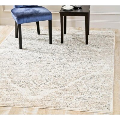Joiner Distressed Beige Area Rug Rug Size: Rectangle 52 x 72