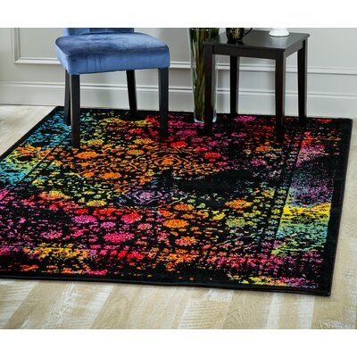 Stanko Distressed Red/Black/Pink Area Rug Rug Size: Rectangle 71 x 106
