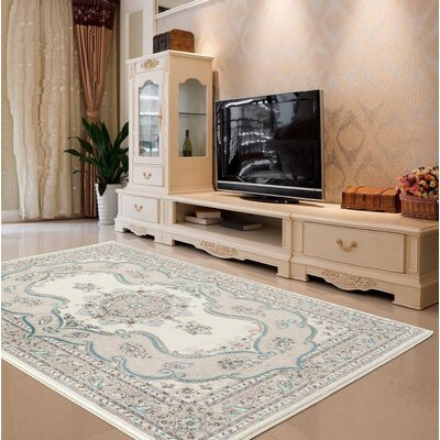 Hirano Oriental Cream Area Rug Rug Size: Rectangle 710 X 106