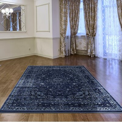 Hirano Distressed Denim Area Rug Rug Size: Rectangle 710 X 106