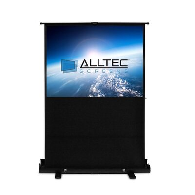 Floor Rising White Portable Projection Screen Viewing Area: 60 Diagonal