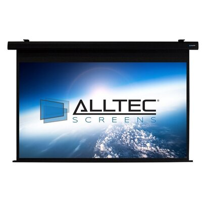 White Electric Projection Screen Viewing Area: 92 Diagonal