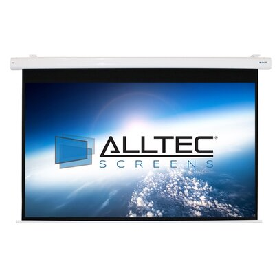 White Electric Projection Screen Viewing Area: 120 Diagonal