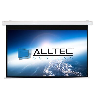 White Electric Projection Screen Viewing Area: 99 Diagonal