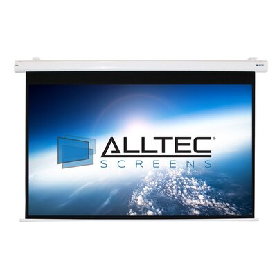 White Electric Projection Screen Viewing Area: 100 Diagonal