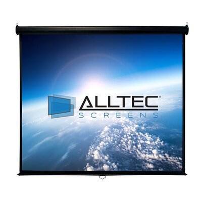 White Manual Projection Screen Viewing Area: 150 Diagonal