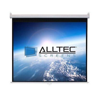 White Manual Projection Screen Viewing Area: 170 Diagonal