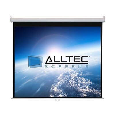 White Manual Projection Screen Viewing Area: 84 Diagonal