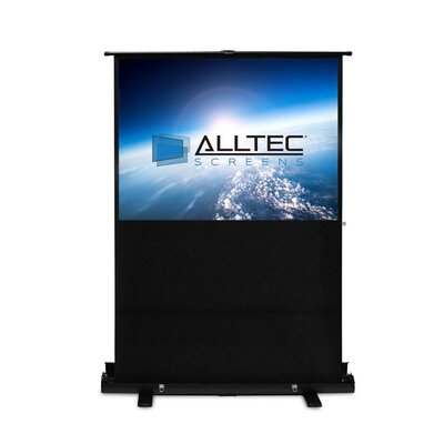 Floor Rising White Portable Projection Screen Viewing Area: 100 Diagonal