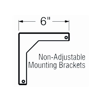 6 Fixed Wall Bracket for WS Screens