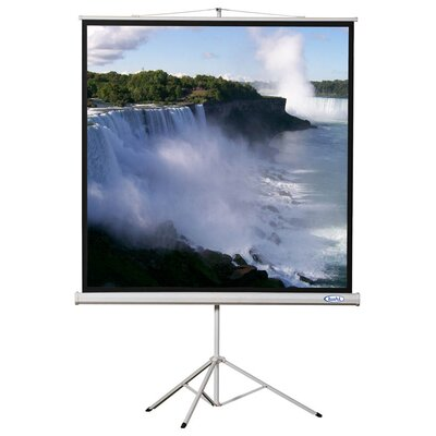 Matte White Portable Projector Screen Viewing Area: 70 H x 70 W