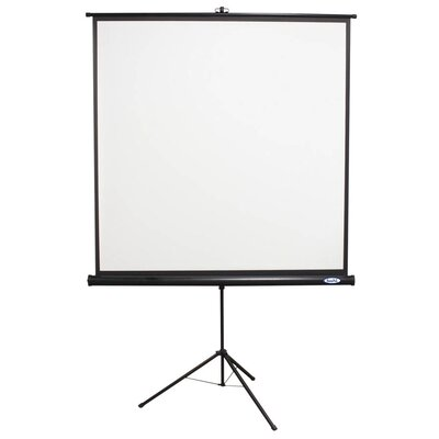 Matte White Portable Projector Screen Viewing Area: 60 H x 60 W