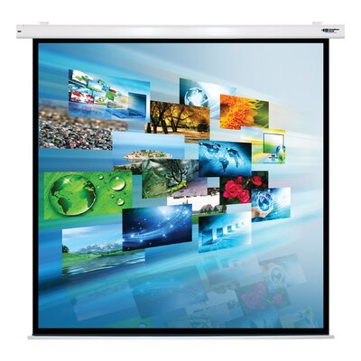 Matte White Electric Projector Screen Viewing Area: 119 Diagonal