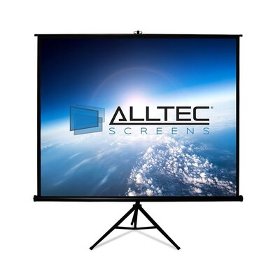 Tripod White Portable Projection Screen Viewing Area: 99 Diagonal