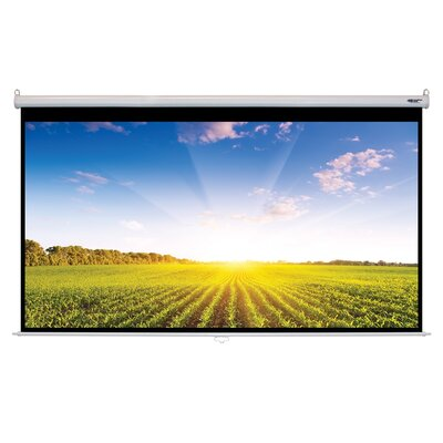 Matte White Manual Projector Screen Viewing Area: 150 Diagonal
