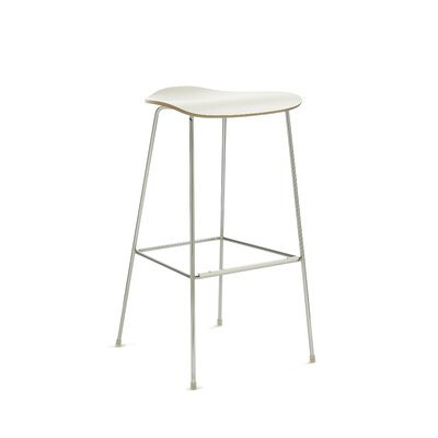 30 Bar Stool Upholstery: White