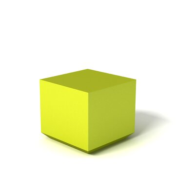 Feek Cube Ottoman Upholstery: Lime Green