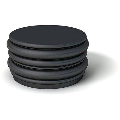Feek Blobby Medium Ottoman Upholstery: Black
