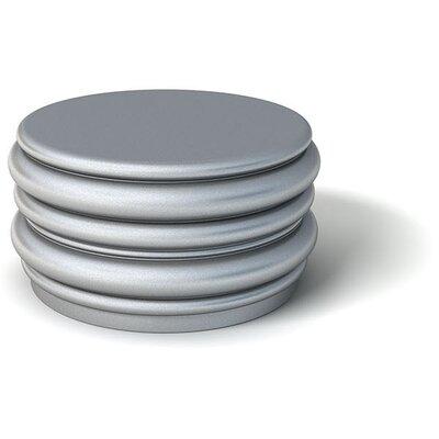 Feek Blobby Medium Ottoman Upholstery: Metallic Silver