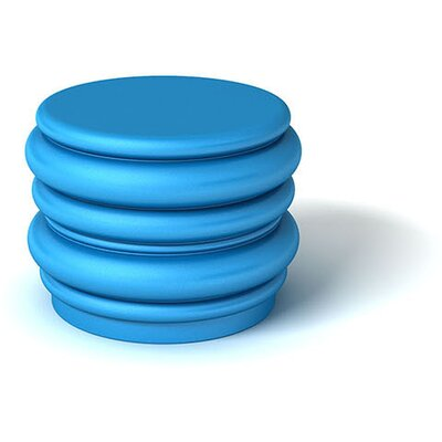 Feek Blobby Small Ottoman Upholstery: Blue