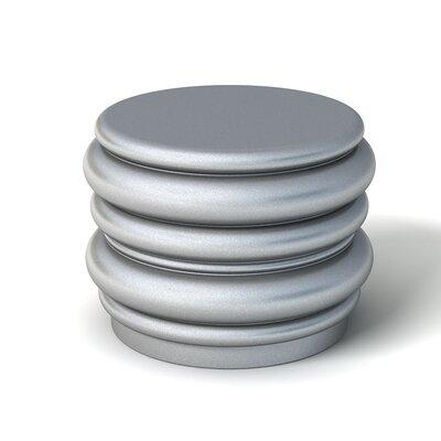 Feek Blobby Small Ottoman Upholstery: Metallic Silver