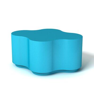 Feek Ottoman Upholstery: Aqua