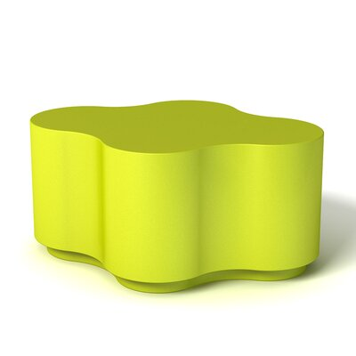 Feek Curvy Medium Ottoman Upholstery: Lime Green