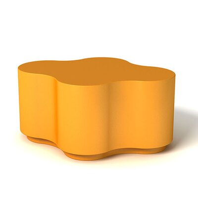 Feek Curvy Medium Ottoman Upholstery: Orange