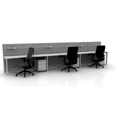 Capture 3 Person Task Workstation Finish: White