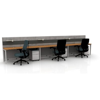 Capture 3 Person Task Workstation Finish: Cherry