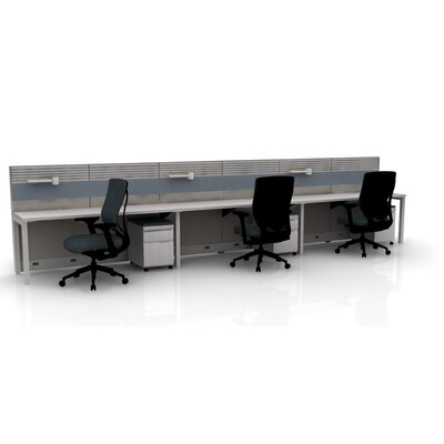 Capture 3 Person Task Workstation Finish: Gray