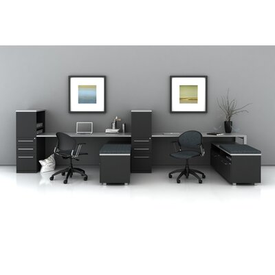 Desking Low Storage L Shape Desk Office Suite Trig Product Photo 7354