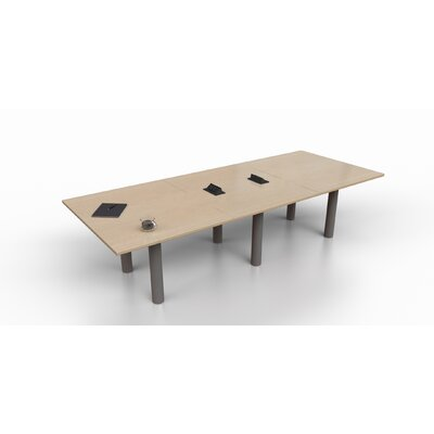 Rectangular 29.25H x 48W x 144L Conference Table Top Finish: Maple, Size: 29.25 H x 120 W x 48 D