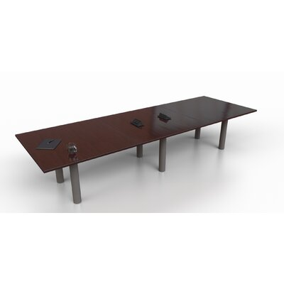 Rectangular 29.25H x 48W x 144L Conference Table Top Finish: Mahogany, Size: 29.25 H x 144 W x 48 D